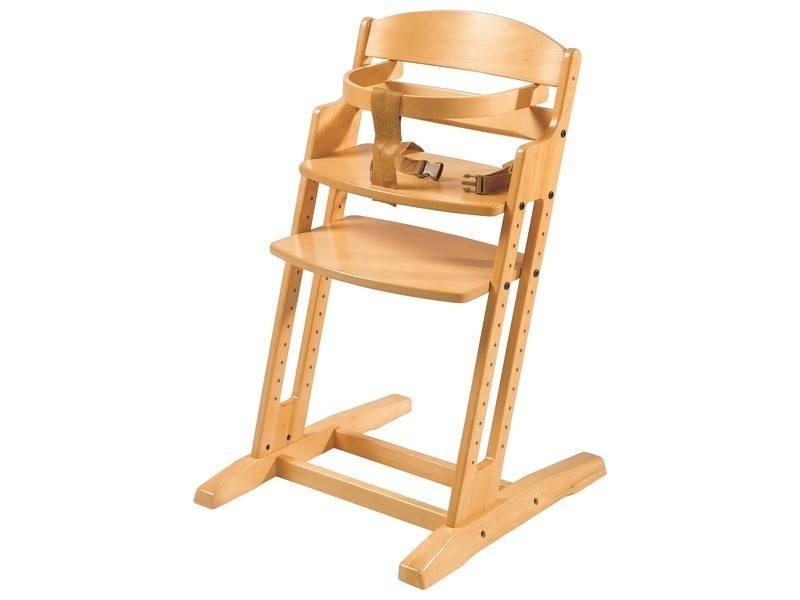 La chaise haute en bois